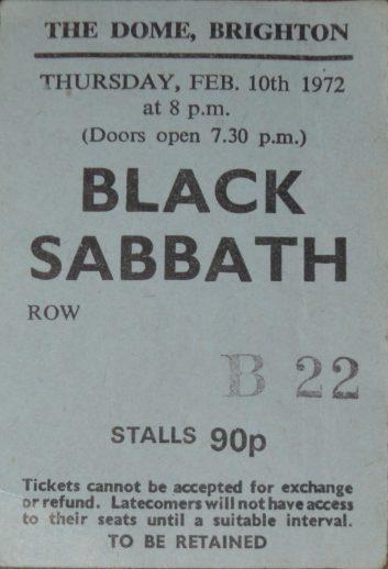 Brighton Dome, February 10th 1972