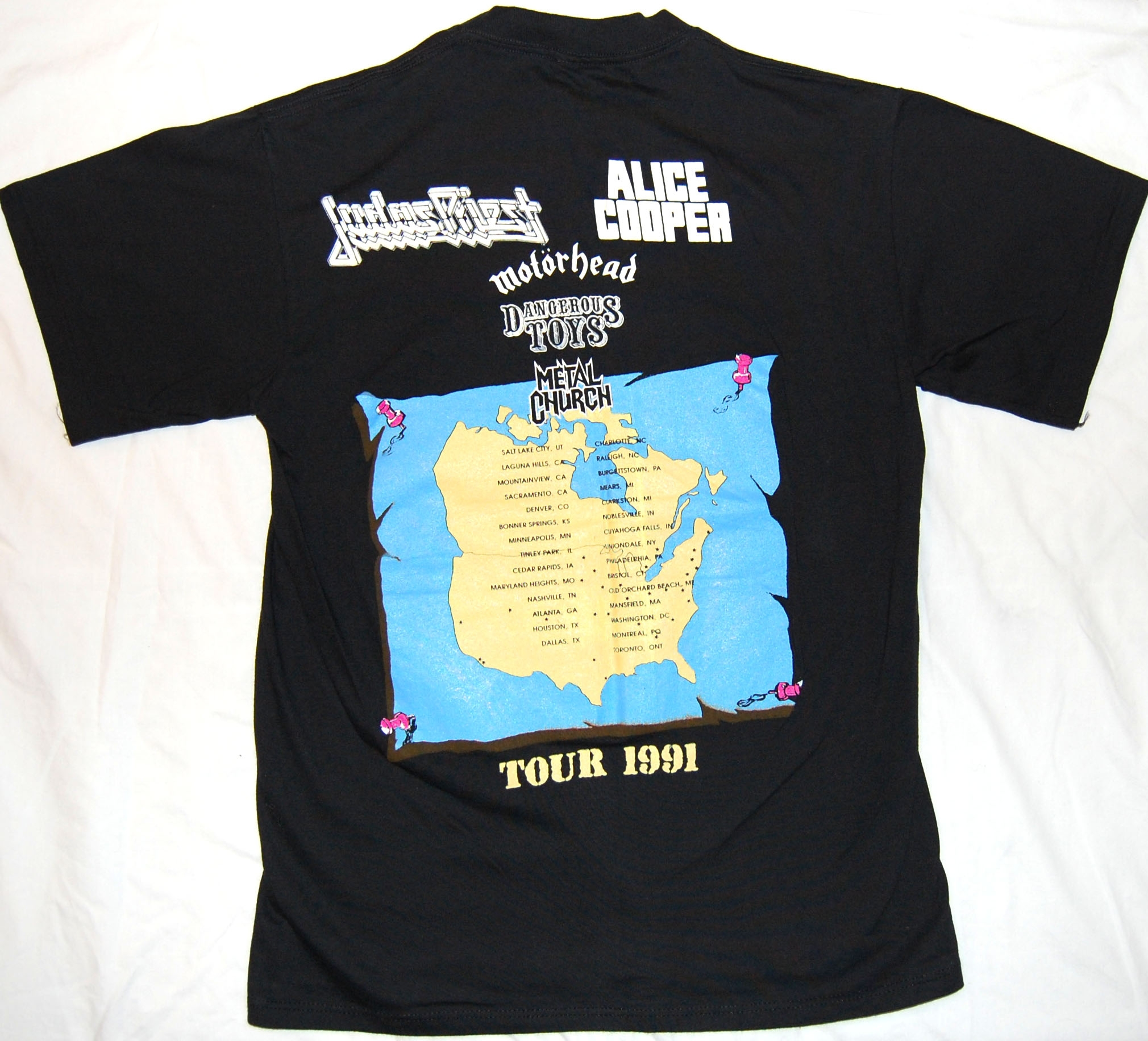 Home Of Metal Operation Rock Roll 1991 Usa Tour T Shirt