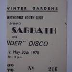 75 Sabbath Ticket 1970 Malvern Winter Gardens