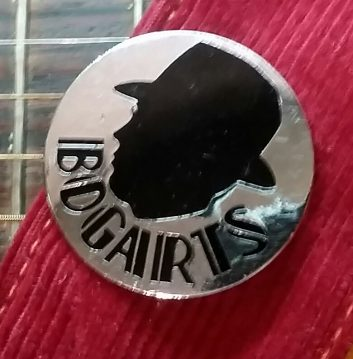 Original badge from Bogarts at the top of New Street, Bham