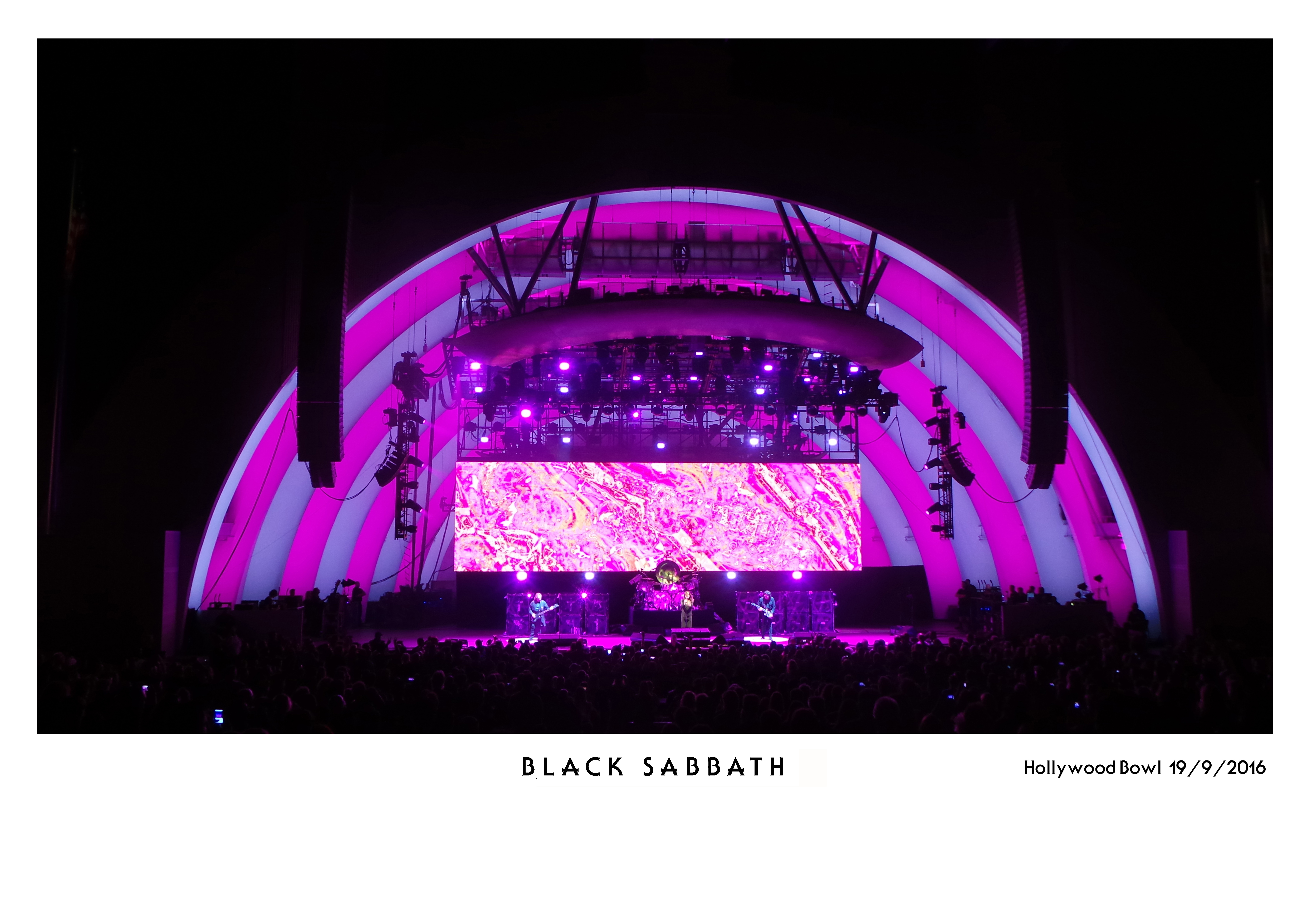 home of metal black sabbath live at the hollywood bowl 19 9 2016 the end tour. Black Bedroom Furniture Sets. Home Design Ideas